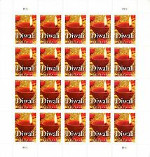 100 USPS Forever Stamps - Diwali Hindu Festival of Lights (5 Sheets of 20)