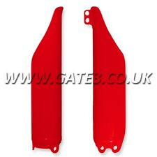 HONDA CRF250R CRF 250 R 2004-2014 RED FRONT LOWER FORK GUARDS MX PLASTICS