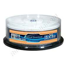 25 Optical Quantum 6x 25GB Blu-ray BD-R White Inkjet HUB Printable Blank Discs