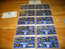 50 State Quarters proof in mint holders no boxes or COA