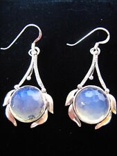 Sterling Silver Angel healing stone Opalite Earrings 3rd Eye Crown Chakra reiki