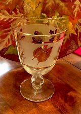 Vintage Libbey Gold Leaf Wine Glass 5 1/2 Inches Height 8oz