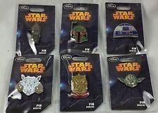 Disney Store Star Wars Series 2 Pin Set: 6Pc Tauntaun IG-88 R2-D2 Boba Fett Boba