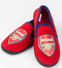 New Official Arsenal Football Club Team Crest Slippers Size UK 5 - 6 in Red