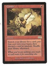 GAMBLE, URZA'S SAGA NM, MAGIC: THE GATHERING, MTG RARE
