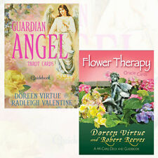 Flower Therapy Oracle Cards and Guardian Angel 2 Tarot Cards