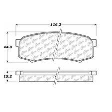 Centric Parts 106.06060 Rear Severe Duty Semi Metallic Premium Brake Pad