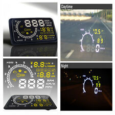 Auto HUD Head Up Display OBDII Instant Car Fuel Consumption Speed Warning System