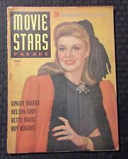 1943 Jan MOVIE STARS PARADE Magazine VG- 3.5 Ginger Rogers Cover