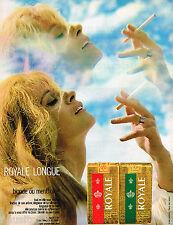 PUBLICITE ADVERTISING 065  1970  ROYALE  cigarette blonde ou mentholée