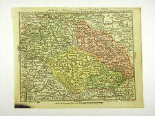 SCHLESIEN BÖHMEN LAUSITZ SACHSEN ALTKOL KUPFERSTICH KARTE LOTTER 1762 #D916S