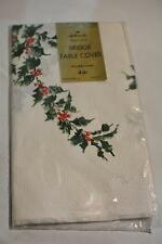 Vintage Christmas Holiday Paper Tablecloths Bridge Table Cover Hallmark