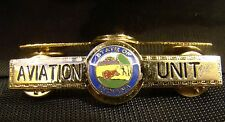 Aviation Unit Tie Bar Pin Clip State Of Indiana Gold Tone Brand New Uniform