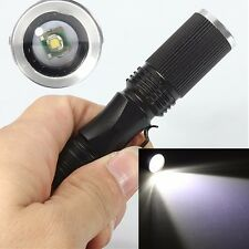 7W 1200LM Q5 LED Zoomable Flashlight Torch Light Lamp 14500 SA3