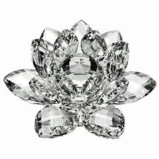 "3"" Amlong Crystal Clear Crystal Lotus Flower with Gift Box"
