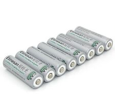 8pcs Etinesan 3.2V 14500 AA 600mAh LiFePO4 lithium li-ion Rechargeable Battery