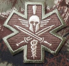 SPARTAN MEDIC EMT EMS MILITARY COMBAT ARMY MULTICAM VELCRO® BRAND FASTENER PATCH