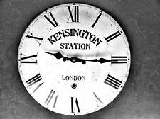 Wanduhr Eisen Emaille Station Kensinton Geschenk in Vintage Ästhetik Wand Deco
