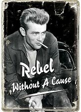 James Dean Rebel Without A Cause metal postcard / mini-sign    (na)