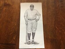 Babe Ruth pencil drawing reproduction by Robert Riger 15 x 7.5,Sports Illustrate
