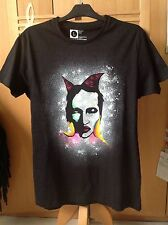 Rock, Goth, Punk, Marilyn Manson Hand Spray Painted T Shirt. Size Large