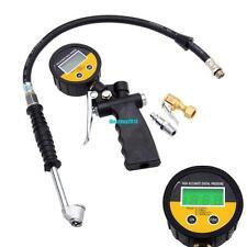 High Accurate Digital Pressure Gauge 0-230 PSI Dual Chuck Valves Tire Inflator