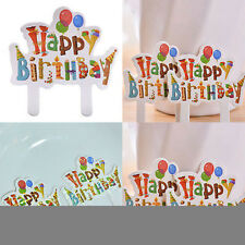 30 pcs Happy Birthday Cake Cupcake Cake Topper Food Topper Shower Party Pick GG