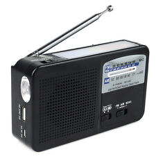 NOAA 2 Band Alert Radio FM/AM Solar Hand Crank Dynamo Emergency Tool+Flashlight