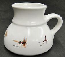 Anglers Expressions Ceramic Travel Mug Fishing Flies Flat Bottom 1994