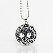 Tree of Life Woodland Jewelry Necklace Black Antique Silver Pendant Necklace