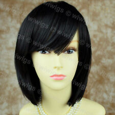 Pretty Short Bob Black wig Soft Natural Ladies Wigs skin top hair from WIWIGS UK