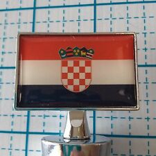 "NEW LOT OF 2 CROATIA FLAG WINE BOTTLE STOP STOPPER - 4"" X 1.5"" - GIFT -  Cook"