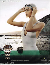PUBLICITE ADVERTISING 065  2010  ROLEX  montre OYSTER PERPETUAL LADY PEARLMASTER