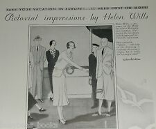 1931 International Mercantile Marine ad Helen Wills art