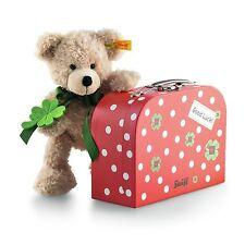 Steiff Teddybär Teddy Bär Fynn 24 cm beige mit Koffer 114007 NEU Glücksbär