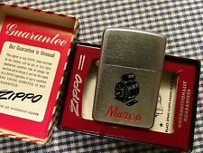 VINTAGE ZIPPO MARCOS ELECTRIC MOTORS LIGHTER 1940s PAT. 2032695