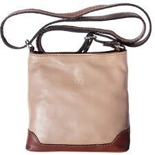 Crossbody Bag Italian Genuine Leather Hand made in Italy Florence 8685 ltb