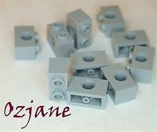 LEGO SPARES PARTS 3700 LIGHT BLUISH GREY TECHNIC BRICK 1 X 2 WITH HOLE 10 PIECE