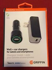 GRIFFIN PowerDuo Universal Car & Wall Chargers - 10 Watt/2.1 Amps - RETAIL $30