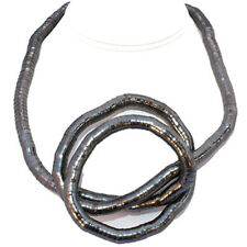 Make Your Own Design 10 mm Flexible Bendable Snake Rope Gunmetal Necklace 34""