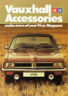 Vauxhall Viva HC & Magnum Accessories 1976-77 UK Market Foldout Sales Brochure
