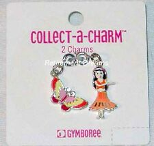 GYMBOREE set 2 charms NEW TROPICAL PARADISE Butterfly Hula Girl