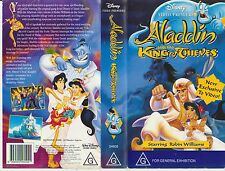 VHS * ALADDIN AND THE KING OF THIEVES * 1996 Walt Disney Classic Robin Williams