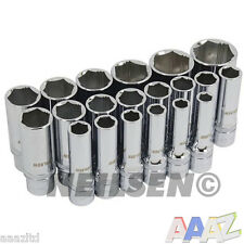 "20pc 1/2"" XI-ON Super Grab Deep Socket Set Socket Removing Rounded Worn Nut"