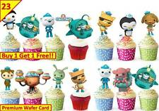 46 OCTONAUTS Birthday Cup Cake Toppers Rice Wafer Edible Party *STAND UP