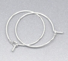 200pcs Silver Plated Wine Glass Charm Rings /Earring Hoops