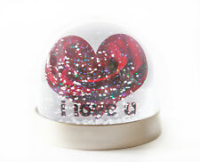 Valentines Day Snow Globe, Add your Own Image and Text, Personalised Snow Globe