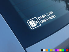 DASH CAM ONBOARD CAR STICKER DECAL WINDOW FUNNY BUMPER CCTV HD CAMERA CAM