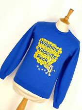 Vintage Retro Wilshire Wildcats Rock Usa Sweater Jumper Sudadera Emo S