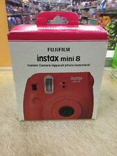 Genuine FujiFilm Instax Mini 8 Instant Film Camera (Raspberry) Brand New